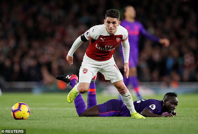 Lucas Torreira looked in the midfield of Arsenal against Liverpool