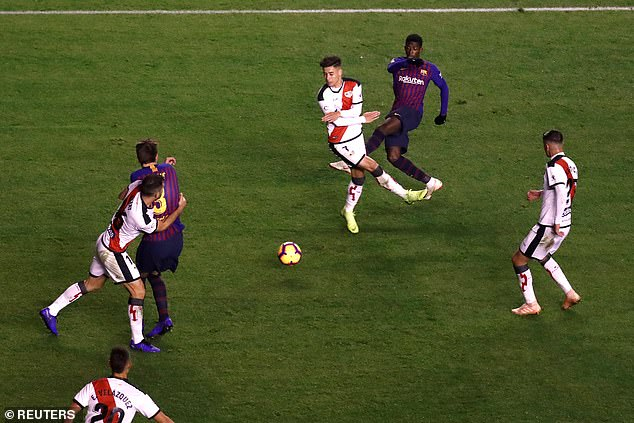 Ousmane Dembele scored the equalizer in 2-2 before Luis Suarez scored the winner