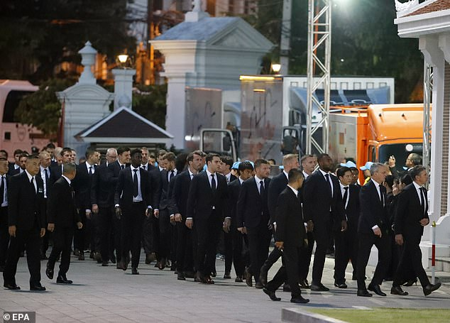 Leicester players attend services in Thailand on Sunday and Monday