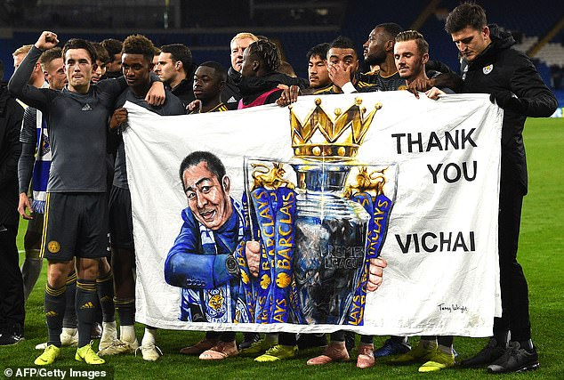 Leicester's players paid tribute to Srivaddhanaprabha after beating Cardiff