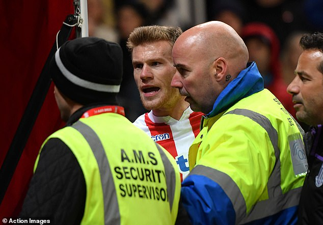 The Irishman was confronted by part of the traveling Middlesbrough fans full time
