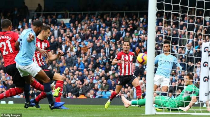Southampton had a bad start after defender Wesley Hoedt scored an own goal after good work by Leroy Sane