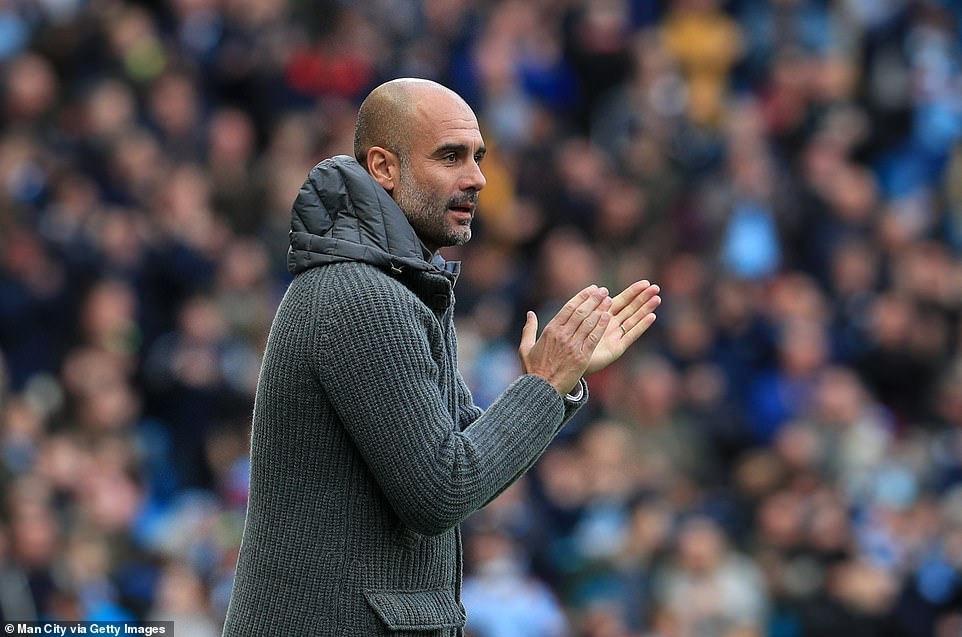 City manager Pep Guardiola will be delighted with the impressive performance of his team