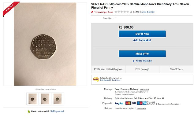 Another used his collection coin for £ 3,300 - just £ 200 less than the most expensive option
