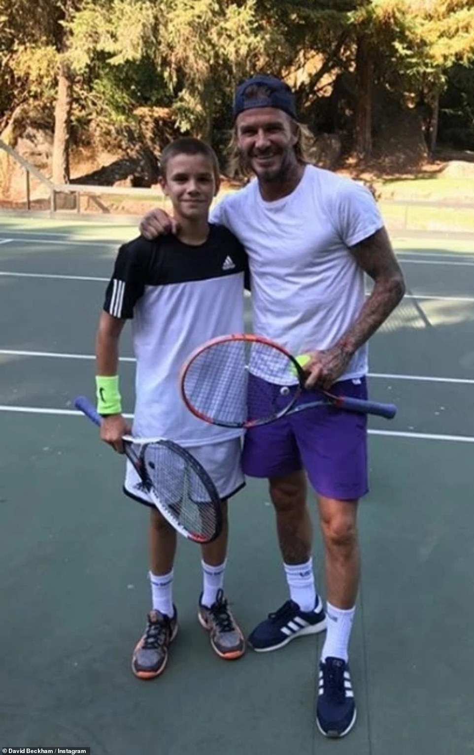 "The former Spice Girl is determined to make Romeo the ""David Beckham of the tennis world"". The talented youngster has already been coached by some of the sport's most prestigious players"