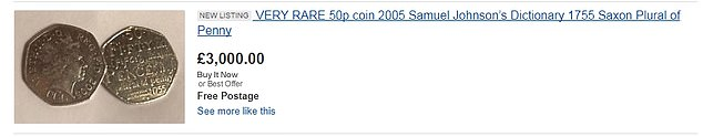 There are currently 11 coins on the online marketplace that offer the coin for more than £ 2,000