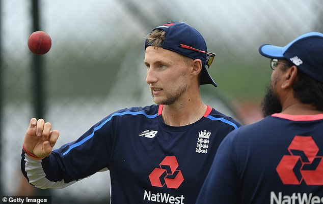 Root plays the ball while England is training on the eve of the first of three tests with Sri Lanka
