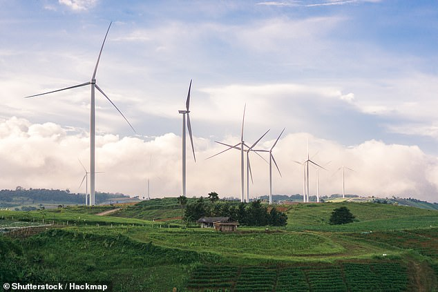 Wind turbines are the new ones