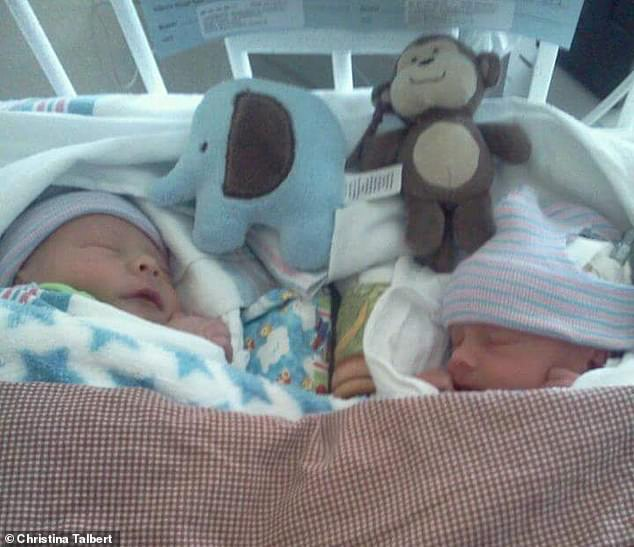 The twins were born too early in September 2012. When they were toddlers, it became clear Parker was behind Lucas