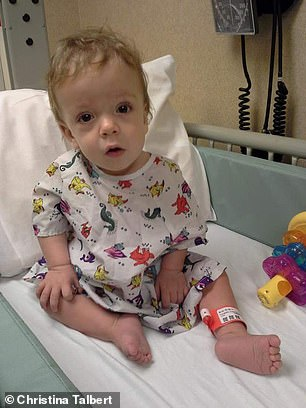 As a baby, Parker's cognitive development was slow, but the spleen, liver, and head all seemed to grow too fast
