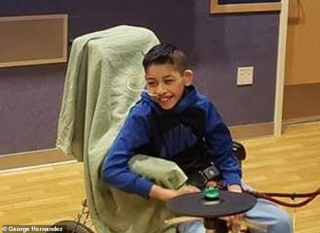 Fernando Hernandez, nine (pictured), from Bloomfield, New Mexico, died after a long struggle with hantavirus, a rare and deadly rat disease that paralyzes the organs