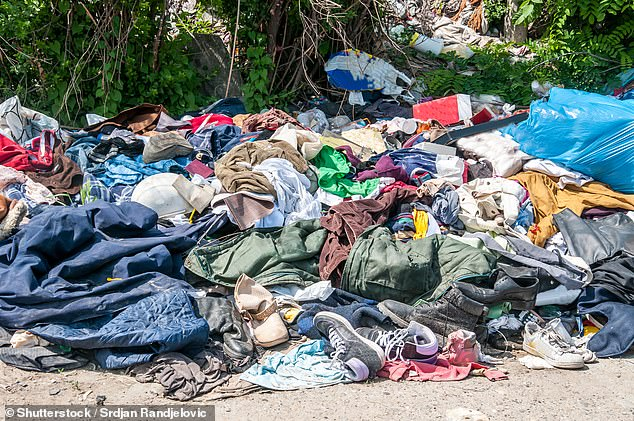 The recycling program is an attempt to reduce the millions of unwanted garments that are thrown away as many owners consider them too worn-out to be given to a charity business (image).
