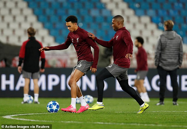 Trent Alexander-Arnold and Daniel Sturridge urge to be involved in the group C clash