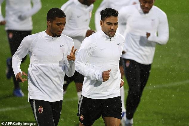Benjamin Henrichs and striker Radamel Falcao both attended the meeting