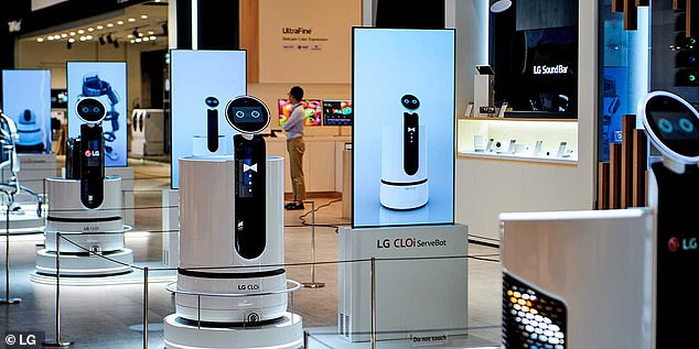Soon, LG's robots could reach the largest supermarket chain in South Korea. The company signed a deal with food retailer E-Mart to develop self-propelled shopping trolleys that follow buyers