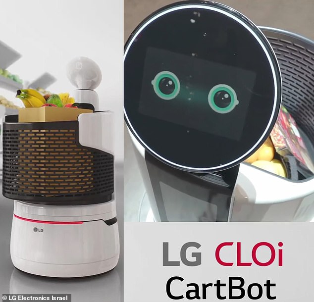 LG has signed a deal with food retailer E-Mart to develop self-propelled shopping trolleys that can track consumers in the store, help them find items, and track grocery lists.