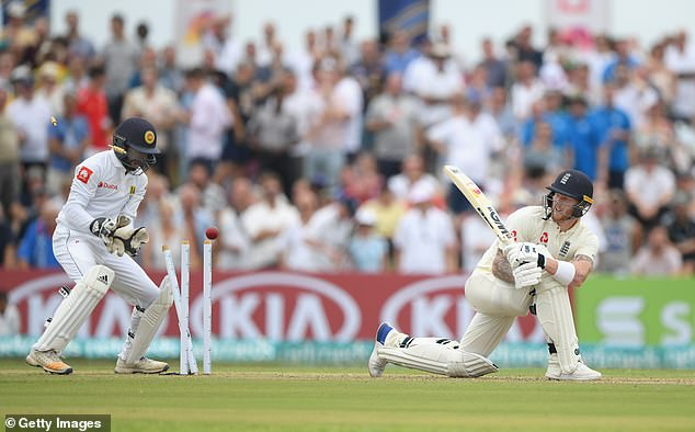All-rounder Ben Stokes then put England in dire straits after missing his sweep shot