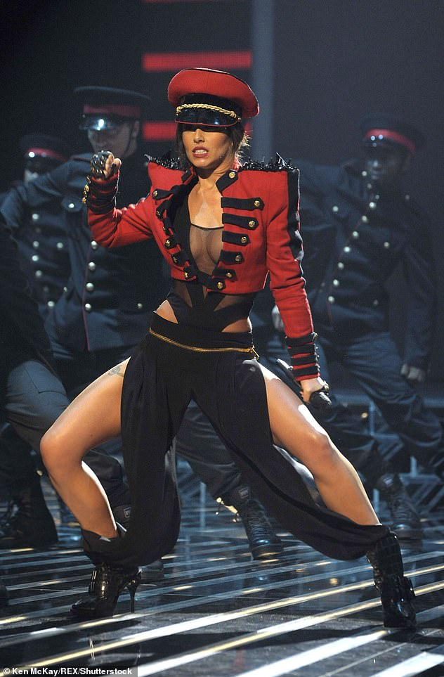 What a performance! Cheryl has performed a plethora of time on The X Factor, including with Girls Aloud [pictured 2009]