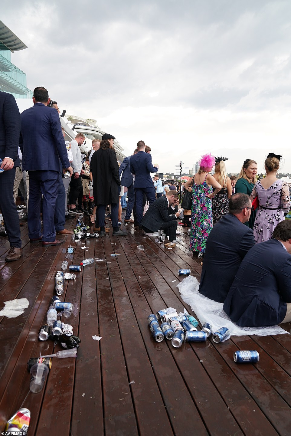 Despite the rain, punters still made the most of the eventthe iconic track at Flemington for the Melbourne Cup