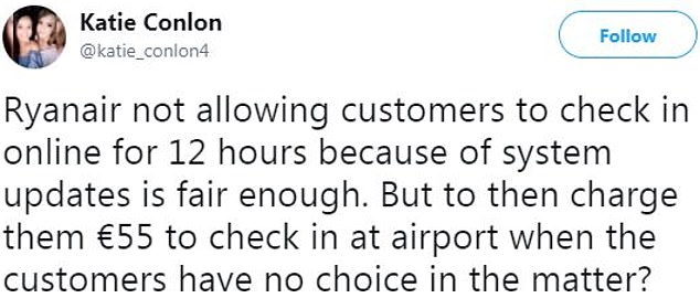 Ryanair customers used Twitter to alleviate their hassle with the airline and not waive the airport check-in fee