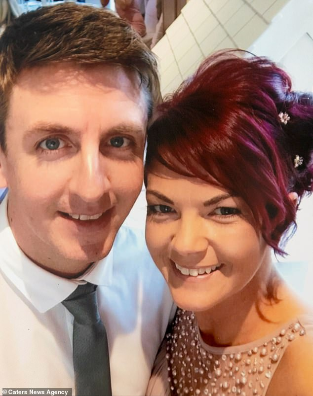 Miss Seddon and her fiancé Ian Carrick (pictured) expect a healthy baby in May next year after their first child, Vinnie, was born dead in March this year