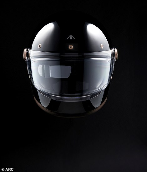 It is equipped with a high-tech helmet that gives the driver important information directly from the bike