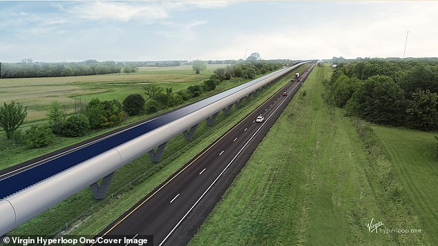 The & # 39; Heartland Hyperloop & # 39; would run along the I-70 Corridor, the main road that crosses Missouri, and would connect Kansas City, Columbia and St. Louis.