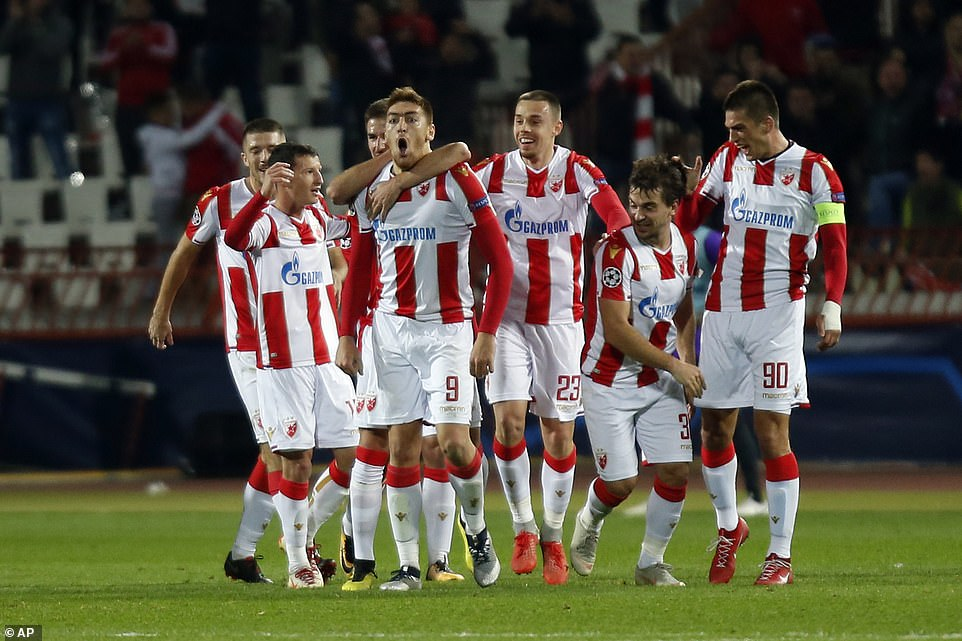 Spirits rose among the Red Star players as they brought Liverpool's qualifying into the knockout stages