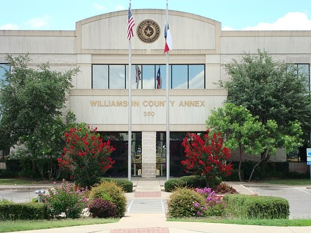 The incident took place at the Williamson County Annex (pictured) in Round Rock, Texas