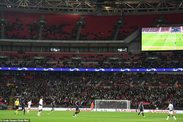 There were plenty of free seats in the National Stadium and a subdued atmosphere as Spurs tried to fight back