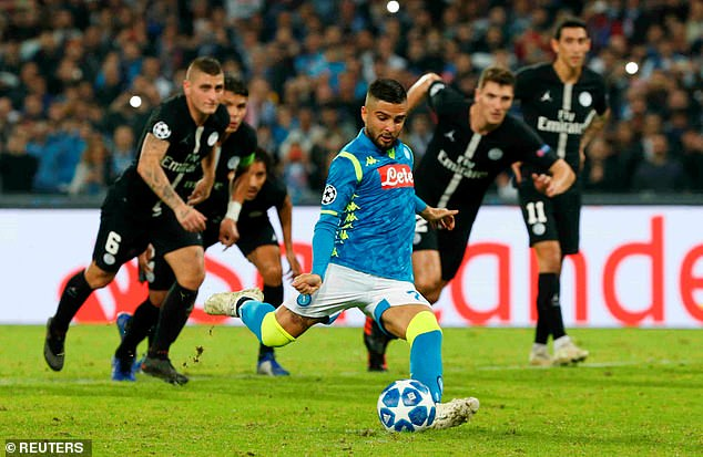 Lorenzo Insigne equalised from the penalty spot to earn Napoli a hard-fought point on Tuesday