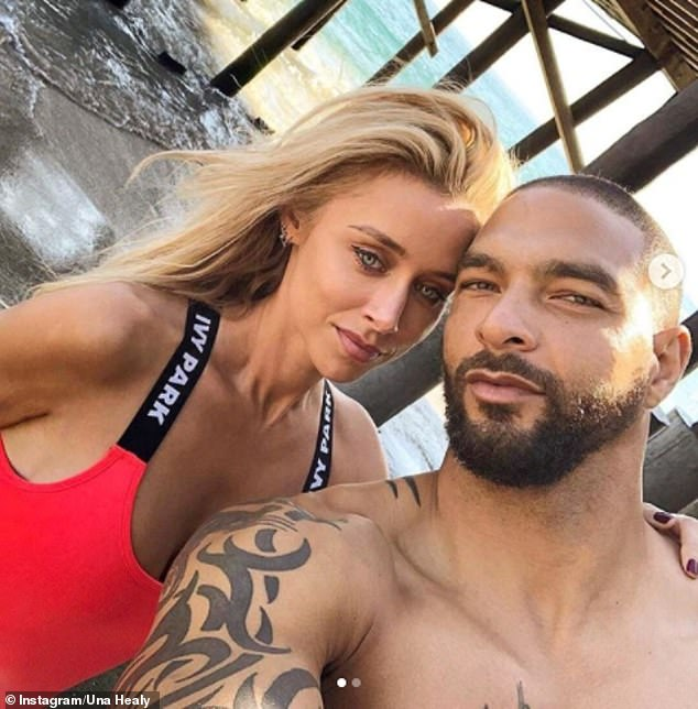 Red hot: New Orleans-born Kenneth also posted two pictures of the pair as they posed for a photo shoot a few days earlier