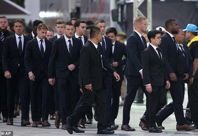 The entire Leicester squad attended the funeral in a very emotional time at the club