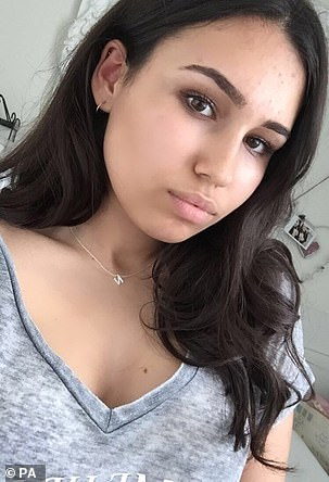 Natasha Ednan-Laperouse, 15 (pictured), bought the artichoke, olive and tapenade baguette from a shop at Heathrow Terminal 5