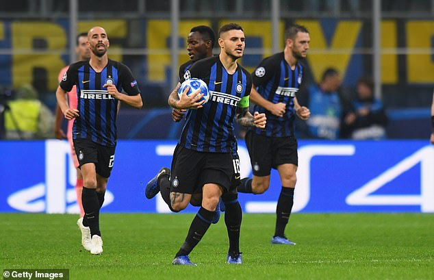 The captain of Inter Milan, Mauro Icardi, equalized the Italians with an equalizer in the 87th minute