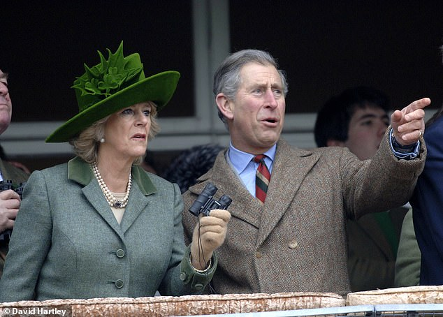 Cheering on the runners and riders with the Duchess of Cornwall at Cheltenham Races on St Patrick's Day in 2006