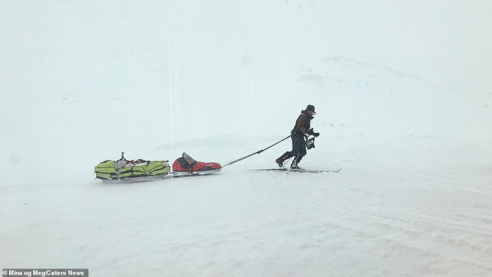 The two have spent a lot of time crossing snow, ice and rocks and wandering 310 miles through most of southern Norway