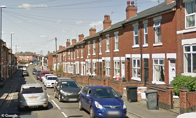 The gang moved victims into a house in this street in Derby, where men slept two to a bed