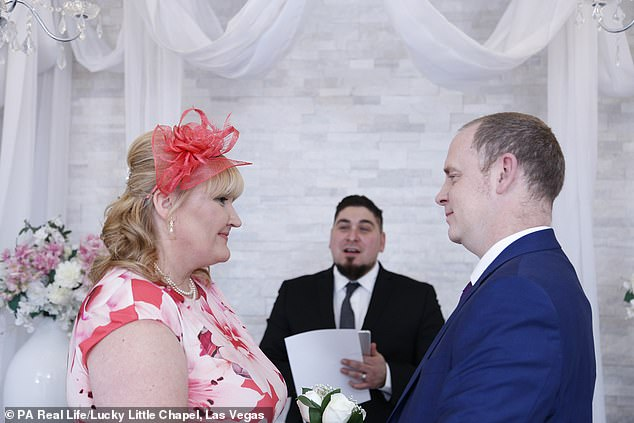 """The Twemlow spouses were married in Las Vegas months after his diagnosis. He said: """"I just looked at Andrea and I realized that she was the woman I wanted to stay with for the rest of my life"""""""