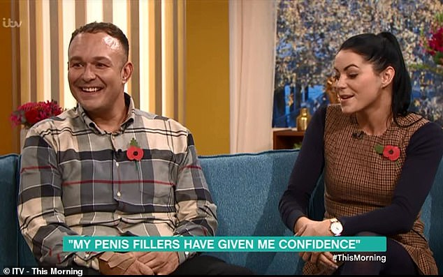 Stuart Price continued this morning with his girlfriend Carys Tedstone to discuss injections that had to enlarge his penis - they increased the circumference of his penis by one inch, but must wait another two weeks before having sex