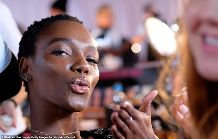 Pucker up! Herieth Paul blew kisses at the camera during her glam session
