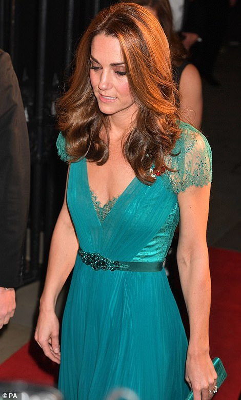 Kate appeared to be in good spirits at this evening's event