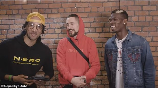 Pogba was speaking this week in an interview with Poet (left) and Vuj from Copa90.