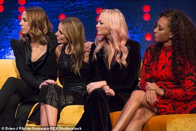 L-R: Spice Girls Mel C, Geri Horner, Emma Bunton, Mel B in The Jonathan Ross Show