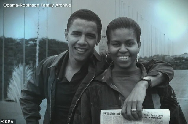In the beginning: In her book, the former first lady admits that she didn't initially want to pursue a romance with Barack, because they worked together at a law firm