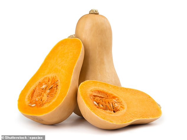 The orange-y color of the butternut squash indicates its carotene content. Higher levels of antioxidant htis have also been linked to lower rates of depression
