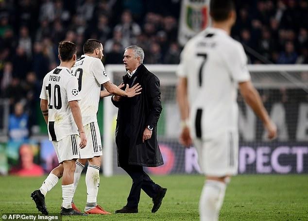 Mourinho's gesture provoked a rabid response from Juventus defender Leonardo Bonucci