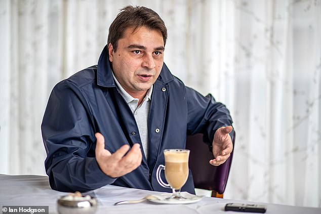 Kinkladze is a rather shy man, but he spoke eloquently, though he said his English was bad