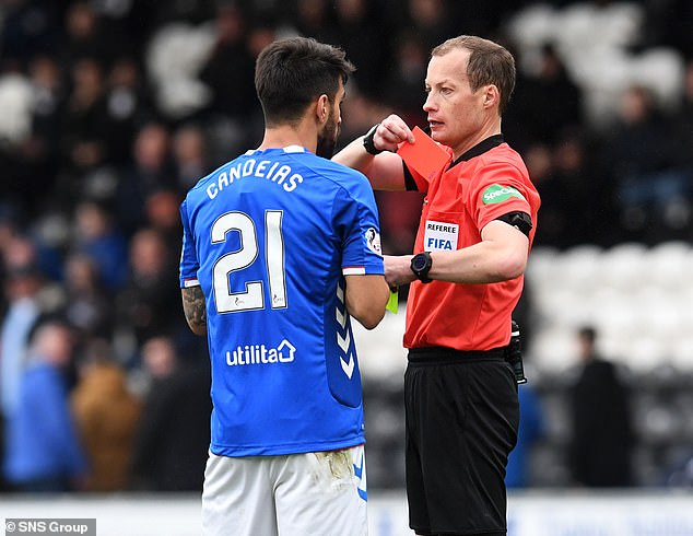 Collum has controversially dismissed Daniel Candeias during the victory over St. Mirren last weekend
