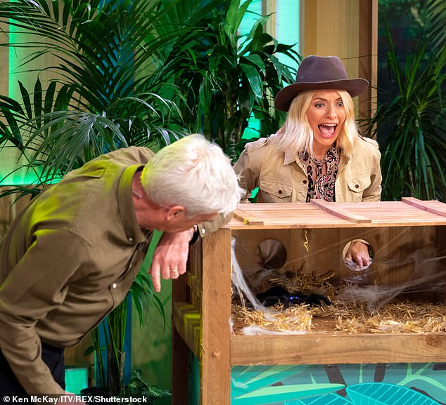Scary! But stepping into her friend's shoes aren't going to be easy as Holly stressed she will have to get into 'mum mode' because she struggles to watch the Bushtucker Trials